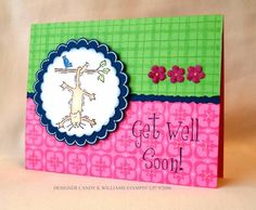 Get well soon using Stampin Up Hang In There