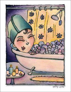Relaxing in bath