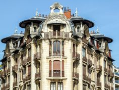 At deco / Art Nouveau building in Dijon, France.