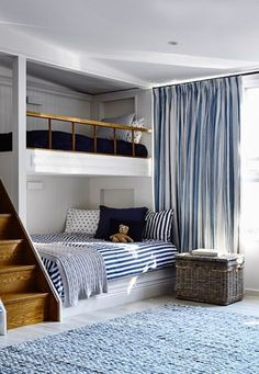 If there are kids in your family with a nautical bent, what better way to jazz up their rooms than with beach-themed bunk beds? Bunk beds don't just save space, . Read moreSpruce Up a Bedroom with these Creative Beach Bunk Beds Furniture, House Design, Room Design, Home, Bedroom Design, House Interior, Home Interior Design, Interior Design, Bunk Room