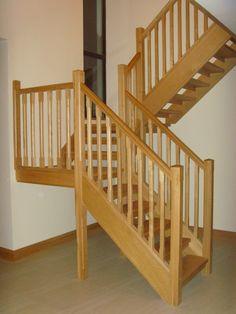 White oak open riser Stairs