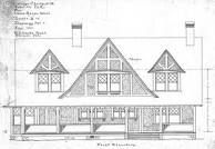 - For Miss Annie West - Richard Sharp Smith Elevation Drawing, Biltmore Estate, Front Elevation, Annie, Cottage, House Design, Architectural Drawings, Asheville, Facades