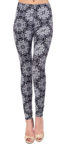 Printed Brushed Leggings - Floral Time  #Leggings #Fashion #OOTD #VIVCollection