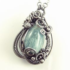 Aquamarine and Sterling Silver Sculpted by SamBraundJewellery