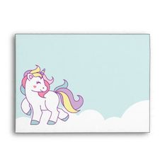 Cute Magical Unicorn Pastel color Personalized