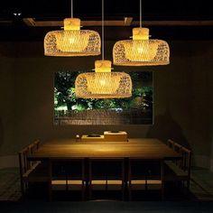 Bamboo Wicker Rattan Miss Hat Shade Pendant Light Fixture Hanging Ceiling Lamp Rattan, Hanging Ceiling Lamps, Ceiling Lights, Hanging Light Fixtures, Fixtures, Pendant Lamp, Light, Pendant Light Fixtures, Hanging Pendant Lights