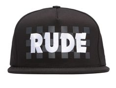 Rude Snapback Cap by SSUR