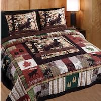 Transform your bedroom into a mountain retreat with this lodge-themed three-piece quilt set. Featuring a patchwork design brimming with cabin charm, this cotton quilt set features images of nature, in King Quilt Sets, Queen Quilt, King Quilts, Wildlife Quilts, Do It Yourself Baby, Rustic Bedding, Deer Bedding, Country Bedding, Coastal Bedding