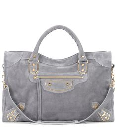 28d9bec39a Balenciaga - Classic Metallic Edge City suede tote - Take your accessories  edit up a notch