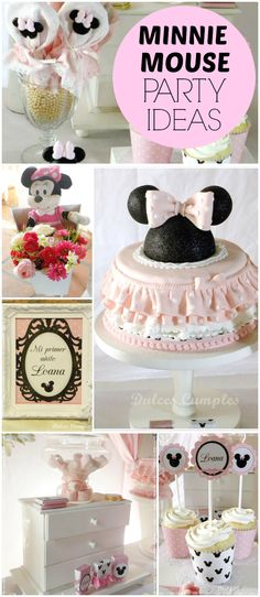 This pink Minnie Mouse party is just gorgeous! See more party ideas at CatchMyParty.com!