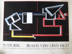 Peter Berg Bram's Very Own Fault Newport Harbor Art Museum 1981 Poster, Signed #Abstract
