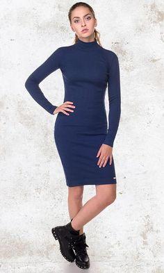 blauwe kerst jurk