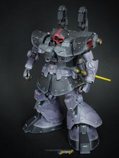 "Custom Build: MG Rick Dom Custom ""Thunderbolt ver. Gundam Wallpapers, Gundam Mobile Suit, Gundam Custom Build, Frame Arms, Gunpla Custom, Suit Of Armor, Mechanical Design, Gundam Model, Art Model"