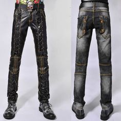 Buy Cool Best Faux Leather Goth Gothic Fashion Pants Men Trousers SKU-11404218