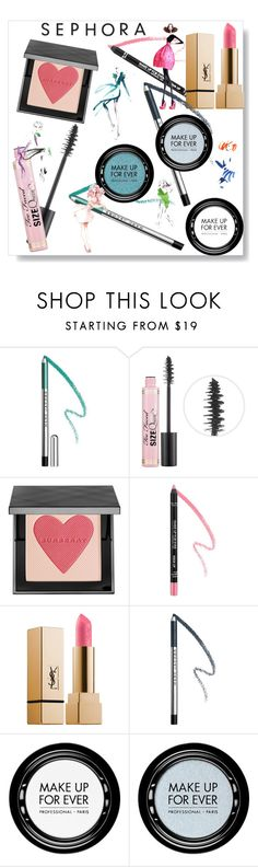 """""""Sephora Makeup Fun"""" by freshstart60 ❤ liked on Polyvore featuring beauty, Marc Jacobs, Too Faced Cosmetics, Burberry, MAKE UP FOR EVER, GE and highlighter"""