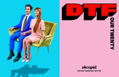 """1,987 Likes, 49 Comments - Adweek (@adweek) on Instagram: """"These bright, poppy and typography-tastic ads for @okcupid are redefining DTF. Read more about it…"""""""