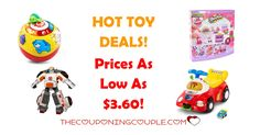 Get Hot Toy Deals right now! Prices start as low as $3.60! These prices might not stay this low long so don't wait.  Click the link below to get all of the details ► http://www.thecouponingcouple.com/hot-toy-deals/ #Coupons #Couponing #CouponCommunity  Visit us at http://www.thecouponingcouple.com for more great posts!