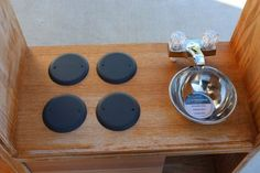 Stove Top and Sink - directions for making a complete play kitchen from an old entertainment center.