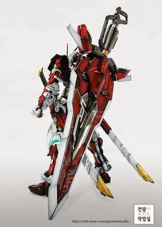 GUNDAM GUY: MG 1/100 Gundam Astray Red Frame - Customized Build