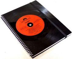 DIN A5 - Notizbuch  Schallplatte The Who upcycling - ein Designerstück von Aurum bei DaWanda