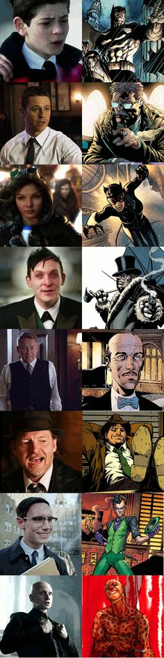 Gotham Characters - Series & Later Comic Version - gotham Fan Art