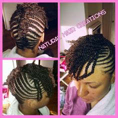 Cornrows 2 strand twists natural hair