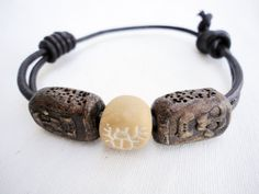 Leather bracelet for men Adjustable  Leather by mitallerdenubes, €15.00