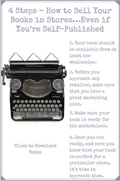 How to get your books into independent bookstores even if you are self-published.