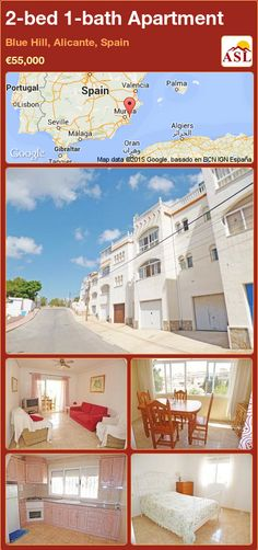 2-bed 1-bath Apartment in Blue Hill, Alicante, Spain ►€55,000 #PropertyForSaleInSpain