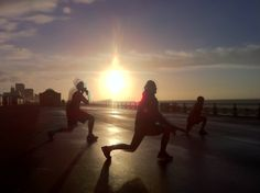 Training people on Brighton seafront, 8am on a Saturday. Stunning!