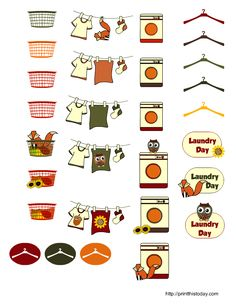 FREE printable laundry planner stickers
