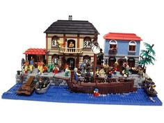 Recruitment in a Spanish port: A LEGO® creation by Ciamoslaw Ciamek : MOCpages.com