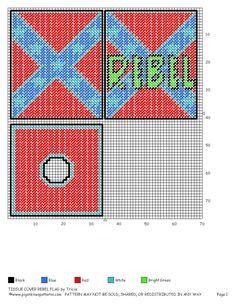 TISSUE COVER REBEL FLAG