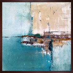 Meet Me By The Sea is a beautiful abstract painting by contemporary artist Elwira Pioro. Enjoy the beauty and color of this painting reproduced as a fine canvas print. Elwira Pioro grew up in Kielce,