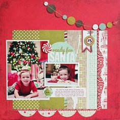 Ready for Santa featuring New Aspen Frost from BasicGrey - Scrapbook.com