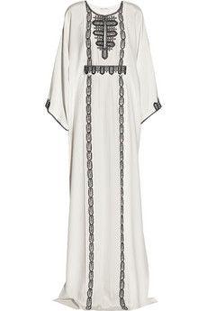 This Oscar de la Renta Embroidered silk kaftan makes my heart go pitter patter @NET-A-PORTER.COM #JetSet #Resort GORGEOUS