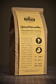 Coffee packaging. Peter, will this be too much work for you? (to slip this in the packag)