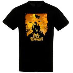 Happy Halloween kísértetkastély póló. Happy Halloween, Polo, Mens Tops, T Shirt, Fashion, Supreme T Shirt, Moda, Tee Shirt, Fasion