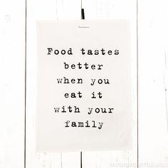 """Trapo de cocina """"Food tastes better"""" #Father'sDayWithSabre"""