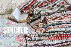 links for A Spicier Life Crochet Along: A Spice of Life 2 (A Spicier Life) - A new crochet Blanket CAL coming soon. Crochet Blanket Tutorial, Striped Crochet Blanket, Crochet Blanket Edging, Afghan Blanket, Crochet Blankets, Crochet Afghans, Baby Blankets, Knitting Blankets, Crochet Stitches