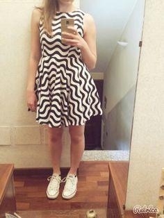 #dress #gonnaaruota #waves #black #white