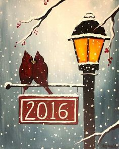 73 Best Christmas Paintings On Canvas Images In 2019