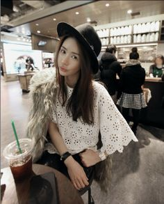 Perforated blouse - 95232  USD $11.40
