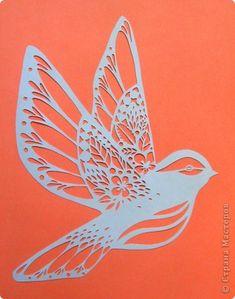 Картина панно рисунок Вырезание Птичка_Emily Hogarth Бумага фото 1