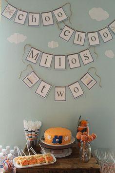 Choo choo Milo's two! | CatchMyParty.com