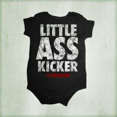Little Ass Kicker Onesie http://shopthewalkingdead.com/little-ass-kicker-onesie/details/49097362?cid=social-pinterest-m2social-product&current_country=US&ref=share&utm_campaign=m2social&utm_content=product&utm_medium=social&utm_source=pinterest
