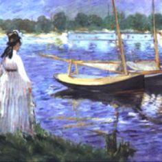 Manet Discover the coolest shows in New York at www. Claude Monet, Eduardo Manet, Water Art, Human Art, French Art, Great Artists, Amazing Art, Photo Art, Art Gallery