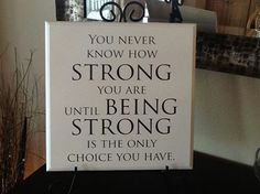 Being strong sign