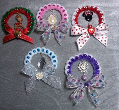 DIY~Make Beautiful Wreath Ornaments From Mardis Gras or Party Beads!