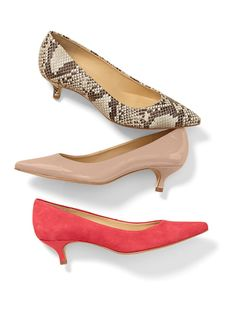 Pippa Stamped Python Leather Kitten-Heel Pumps @talbots #SpecialtyShopsDiscover specialtyshopssouthpark.com
